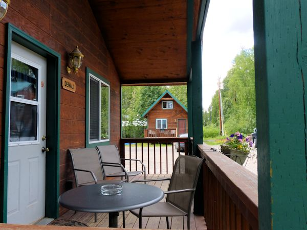 Denali Cabin front porch