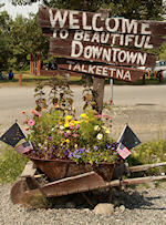 within walking distance of downtown Talkeetna